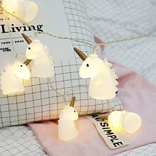 Guirlande féerique licorne 10 LED lumières,