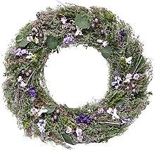 Guirlande Florale de Porte de Papillon de Ressort