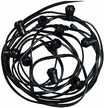 Guirlande Foraine noire 10 Douilles B22 Câble