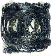GUIRLANDE GUINGUETTE 10M - 10 DOUILLES B22 - Noir