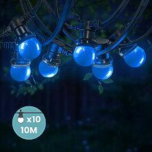 Guirlande Guinguette Bleue 10 m - Bleu