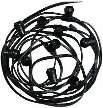 Guirlande Guinguette câble plat 10m pour 20