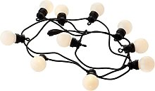 Guirlande guinguette extensible 10 ampoules LED L3m