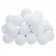 Guirlande LED 20 boules, blanc L435 cm