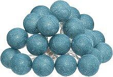 Guirlande LED 20 boules, bleu L435 cm