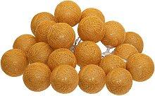 Guirlande LED 20 boules, jaune ocre L435 cm