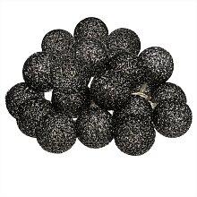 Guirlande LED 20 boules, noir L435 cm