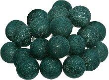 Guirlande LED 20 boules, vert L435 cm