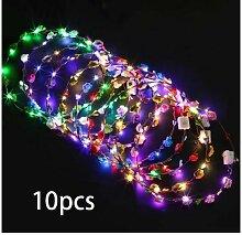 Guirlande LED, bandeau décoré 10PCS avec