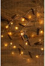 Guirlande LED décorative avec pinces Pitres Blanc