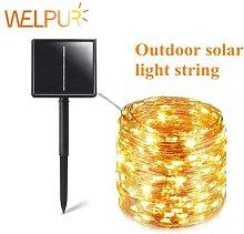 Guirlande LED solaire à 100LED pour 12 mètres