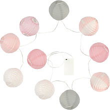 Guirlande lumineuse 10 boules LED - Diamètre : 10