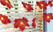 Guirlande lumineuse 10 LED feuilles d érables : 1