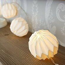 Guirlande lumineuse, 10Papier Lampion, papier,