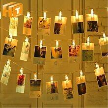 Guirlande lumineuse à Clip Photo, 1M/2M/4M/10M,