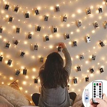 Guirlande lumineuse à Clip Photo 5m/10m, USB,