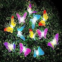Guirlande Lumineuse à Papillon Solaire, 20