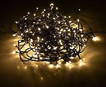 Guirlande lumineuse avec 240 LED blanc chaud,