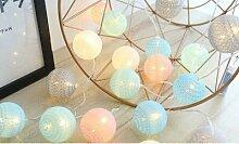 Guirlande lumineuse avec boules de coton LED :
