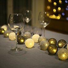 Guirlande Lumineuse Boule Coton - 3.1M 20er LED