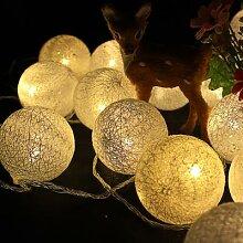Guirlande lumineuse boule de coton à 20led, 5M,