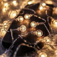 Guirlande lumineuse boule de cristal led à piles