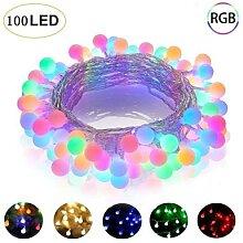 Guirlande lumineuse boule de lumière, 10M, 100