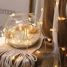 Guirlande lumineuse boule de noël, décoration de