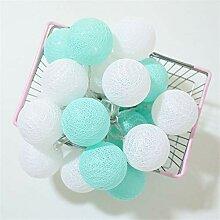 Guirlande Lumineuse Boules Coton 5M 50LEDs Blanc