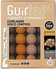 Guirlande lumineuse boules coton LED USB -