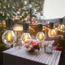 Guirlande lumineuse d'extérieur, ampoule G40,