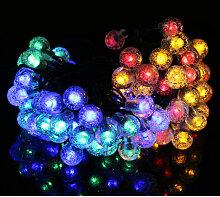Guirlande lumineuse d'exterieur solaire 12M