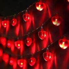 Guirlande Lumineuse de Coeur de Saint-Valentin