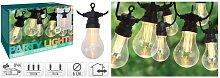 Guirlande lumineuse de jardin 10 ampoules 3,2 V -