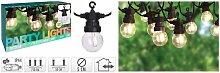 Guirlande lumineuse de jardin 10 ampoules LED 24 V