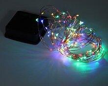 Guirlande lumineuse en fil de cuivre à énergie