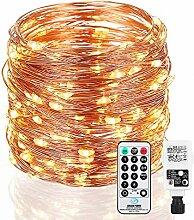 Guirlande lumineuse en fil de cuivre, Infankey 25M