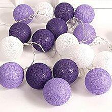 Guirlande lumineuse en forme de boule de coton