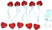 Guirlande Lumineuse en Forme de Coeur, Coeurs