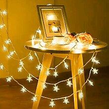 Guirlande Lumineuse Étoile, 40 LED Rideau