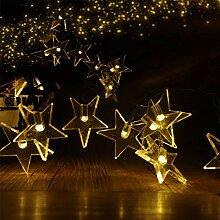 Guirlande lumineuse étoile solaire 5m 20LED 2