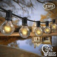 Guirlande Lumineuse Extérieur, 7m 25pcs Ampoules