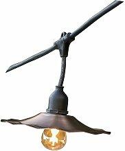 Guirlande lumineuse extérieur avec abat-jour en