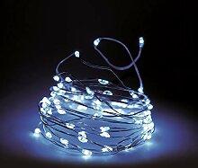Guirlande lumineuse fil 160 LED avec minuteur et 8