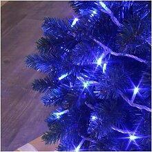 Guirlande lumineuse flicker 128 led bleu