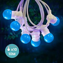 Guirlande Lumineuse Guinguette Bleu 10 m Cable