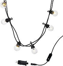 Guirlande lumineuse guinguette LED caoutchouc noir