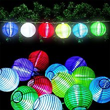 Guirlande Lumineuse Lanterne LED 12 Lampions de