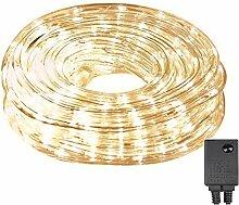 Guirlande lumineuse LED 10 m 240 LEDs, tube de
