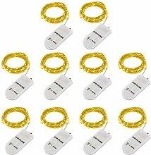 Guirlande Lumineuse LED - 10 Pack, 2M, 20LEDs,